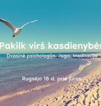 """Dvasinė psichologija/Joga/meditacija """"Palydėkime vasarą prie jūros"""""""