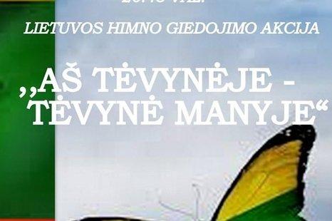 Lietuvos himno giedojimas Plikiuose
