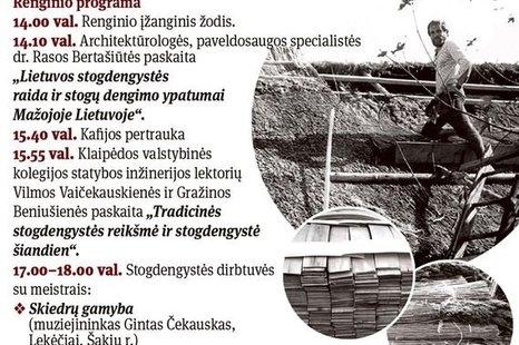 Stogdengystės Mažojoje Lietuvoje raida ir reikšmė šiandien