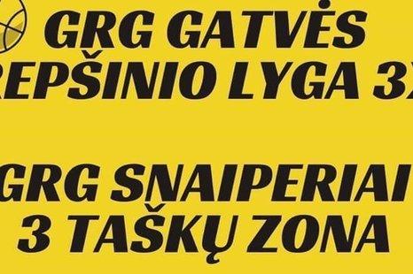 GRG gatvės krepšinio lyga 3x3 ir GRG snaiperiai 3 taškų zona