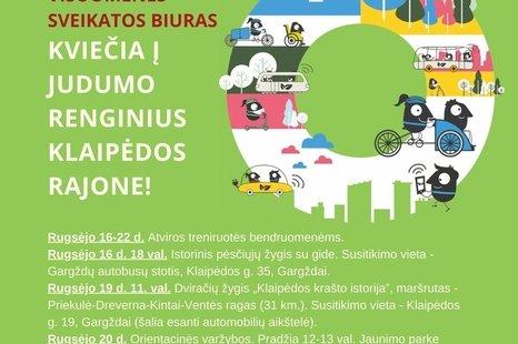 Judumo savaitė Klaipėdos rajone